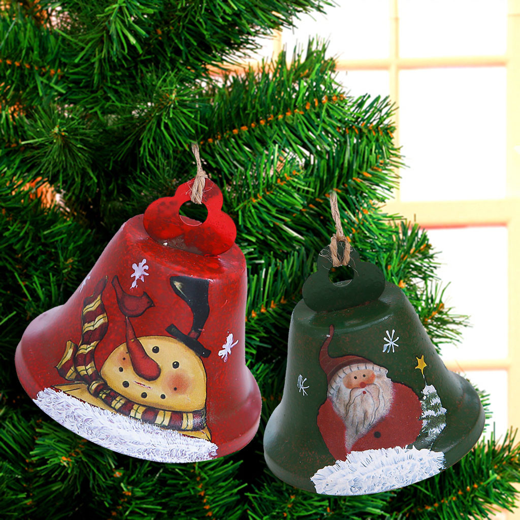 Large Merry Christmas Bows Bell Xmas Tree Party Gift Present Xmas Decorations