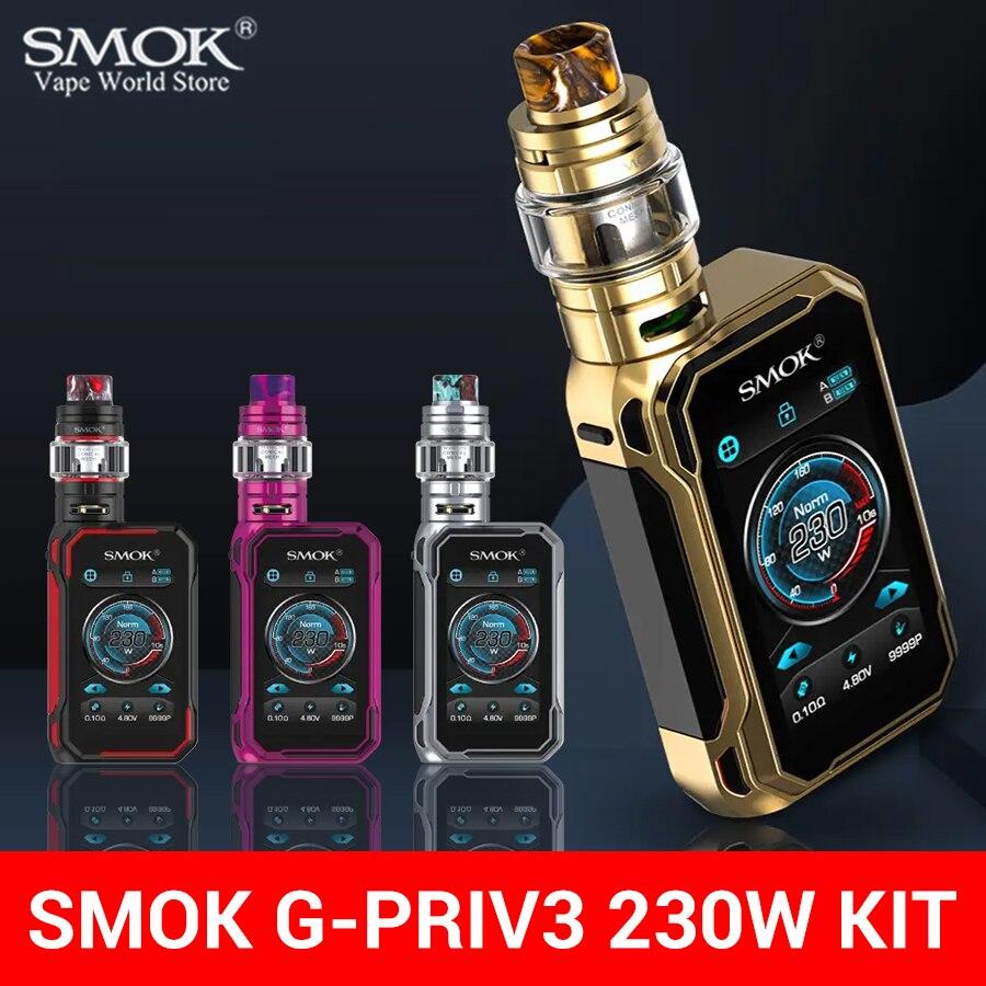 Вейп SMOK G Priv 3 комплект коробка мод с TFV16 LITE Танк сигарета электронная сигарета 230 Вт Sigaretta Elettronica сетчатая катушка испаритель S16