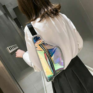 Bum-Bag Belt Fanny-Pack Laser Punk Holographic Transparent Waterproof Fashion Women Clear