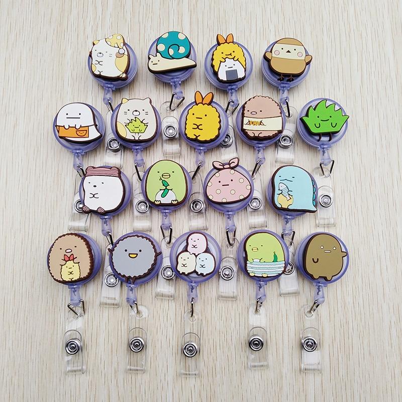1 Pcs Cartoon Animals Retractable Badge Reel Bus Card Nurse ID Name Card High Quality Silicone Badge Holder 2019 Office Supplies