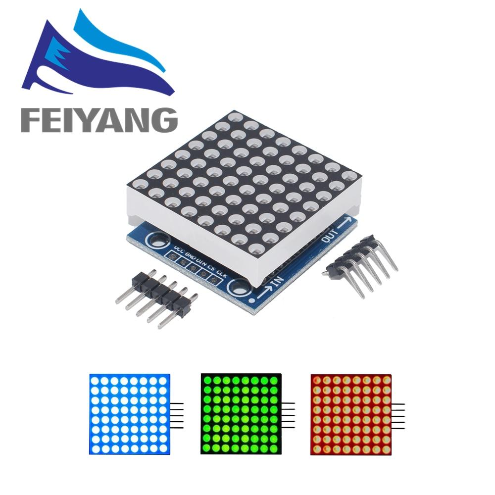 Module de matrice de points MAX7219, module de microcontrôleur, KIT de bricolage, Module de contrôle d'affichage LED MCU, 10 pièces