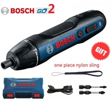 مفك براغي كهربائي صغير أصلي من Bosch Go2 بقوة 3.6 فولت ومفك براغي تلقائي قابل لإعادة الشحن USB ومفك عزم دوران من Bosch Go 2