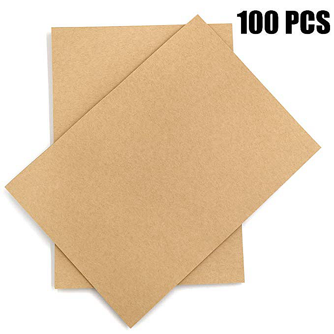 Crafts 50 Sheets 120 GSM Letter Sized Brown Stationery Paper for Arts Kraft Paper and Office Use