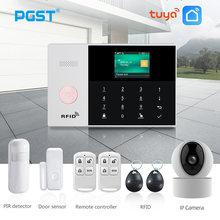 PGST PG105 TUYA Sistema De Alarme GSM com Detector de Fumaça Câmera IP Wi-fi RFID Kit de Alarme Home do Assaltante Segurança Casa Inteligente