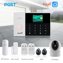 PGST PG105 TUYA GSM Alarm System with WiFi IP Camera Smoke Detector RFID Home Burglar Security Alarm Smart Home Kit