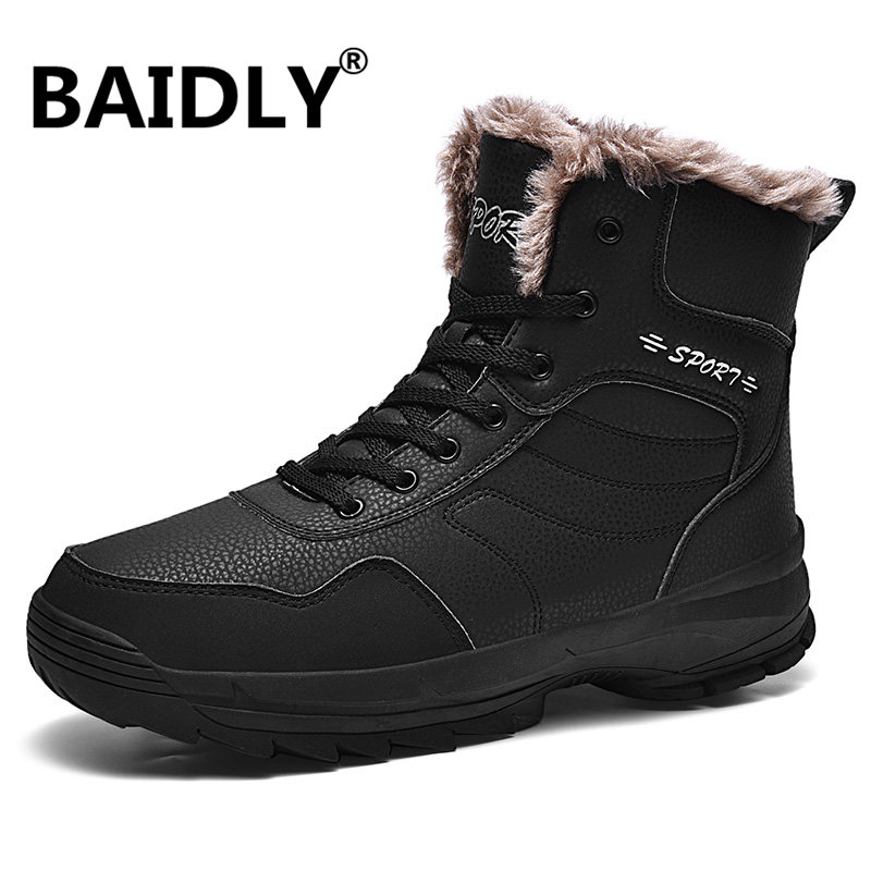 Hiking-Shoes Trekking Footwear Mountain Outdoor Men for High-Top Boots Warm Training