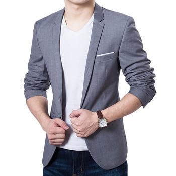 Men's Fashion Solid Color Business Suit Males Casual Slim Thin Blazer for Business Suit Plus Size 6XL