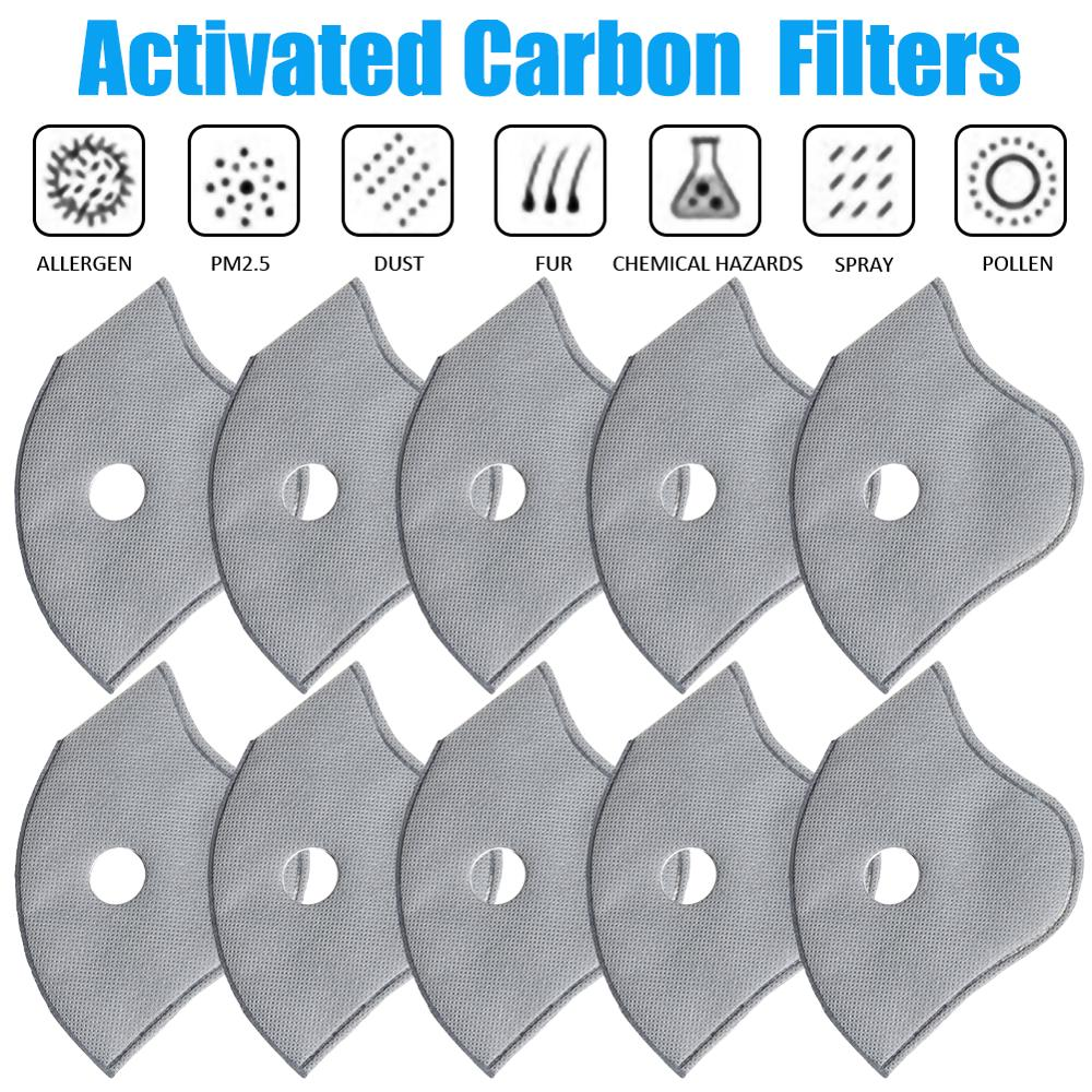 5/10/20 Pcs 4/5 Layer PM2.5 Activated Carbon Anti Dust Mouth  Face Mask Filter Set Insert Dustproof Health Care Supplies
