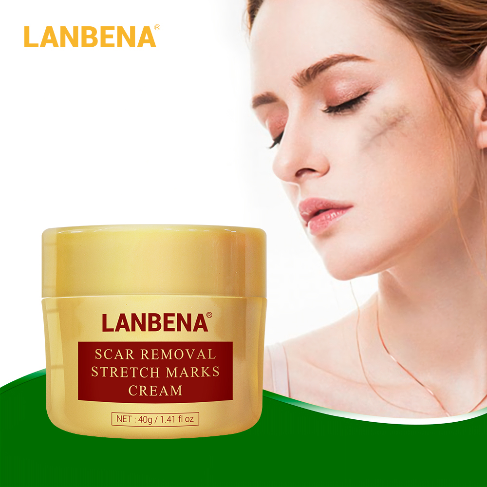 LANBENA Scar Removal Cream Acne Treatment Repairing Scar Non Irritating Whitening Cream Anti Winkles Moisturizing Skin Care 40g