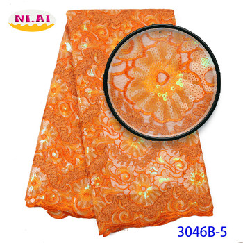 Organza Tissu Dentelle Burnt Orange, Swiss Organza Lace In Switzerland, Swiss Organza Lace In Switzerland MR3046B фото