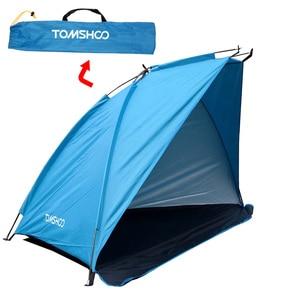 Image 1 - TOMSHOO Einzigen Schicht Strand Zelte 2 Personen Camping Zelt Anti UV Sonne Unterstände Markise Schatten Im Freien Zelt für Angeln Picknick wandern