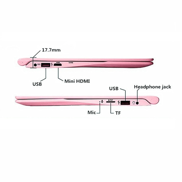 "Fast SSD 256GB 12"" Ultrabook CPU intel Quad Core Windows 10 Business School Pink Black Arabic AZERTY Spanish Russian Keyboard 4"
