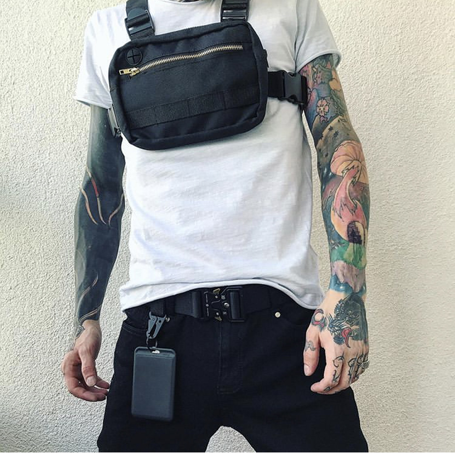 Small Hip Hop Streetwear Vest Military Chest Bag For Men Functional Waist Packs Adjustable Pockets Waistcoat Fashion Chest Rig