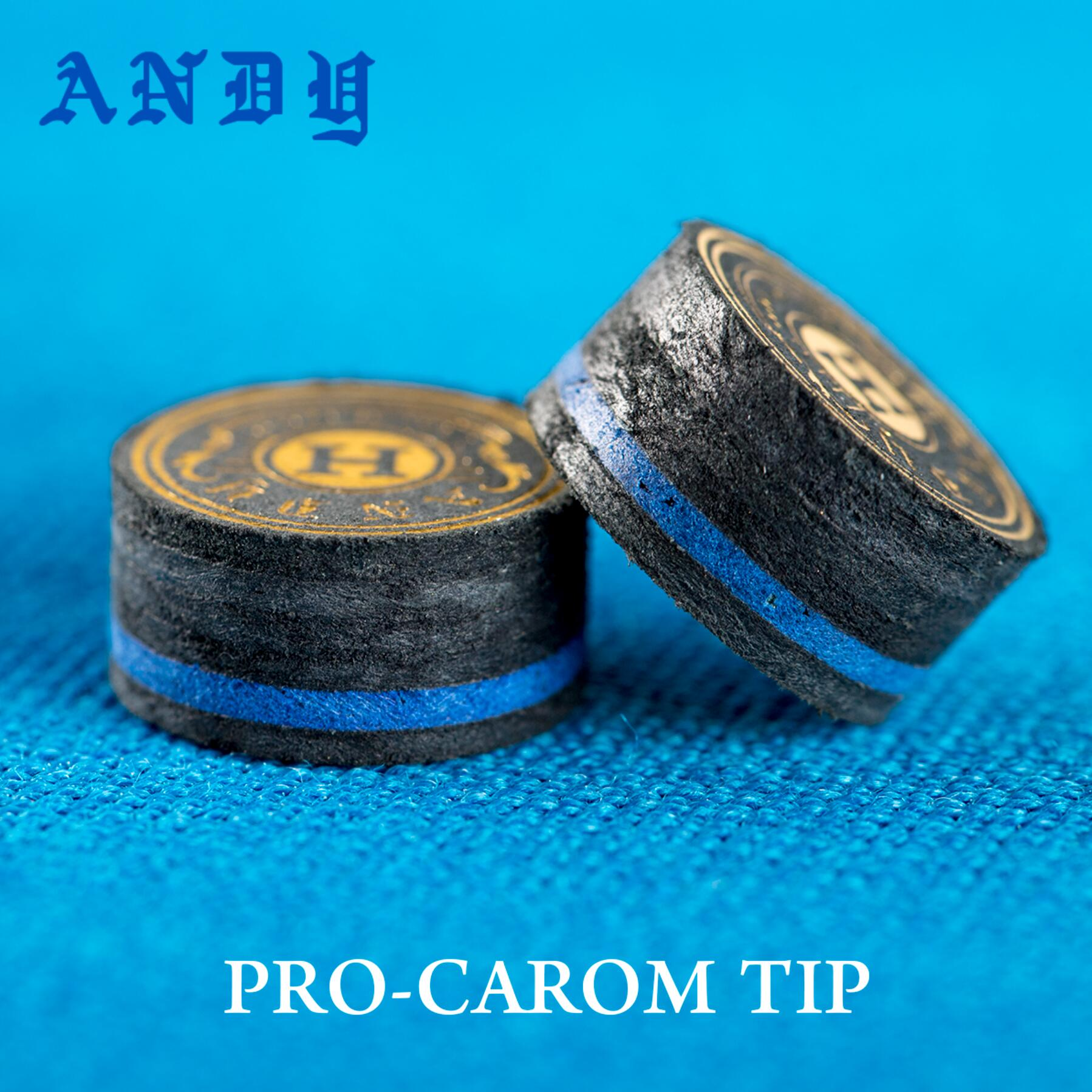 ANDY Carom Cue Tip 14mm Tip 6 Layers 7mm Thinkness Carom Billards Tip Professional Carom Tip Billiard Accessories For Athlete