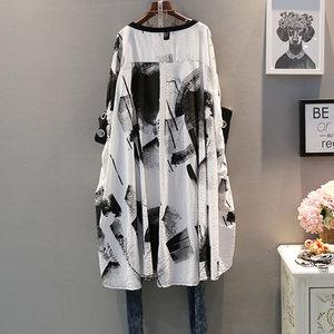 Женская футболка с коротким рукавом XITAO, Повседневная футболка с круглым вырезом и принтом, 2019
