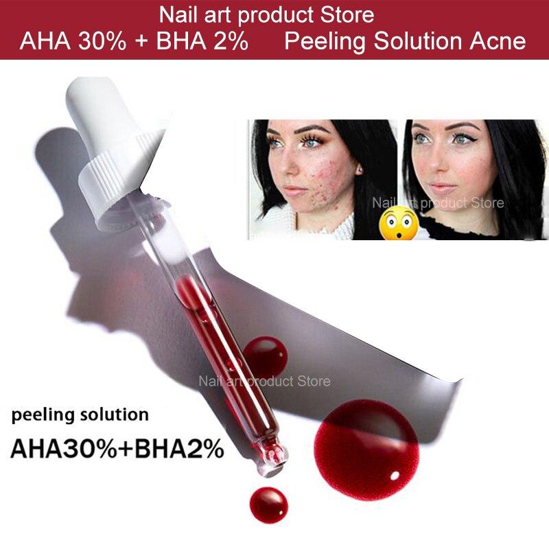 Suero facial ordinario, solución exfoliante AHA 30% + BHA 2%, solución exfoliante, cicatrices por acné, blanqueamiento, 10 minutos, 30ml|Base| - AliExpress