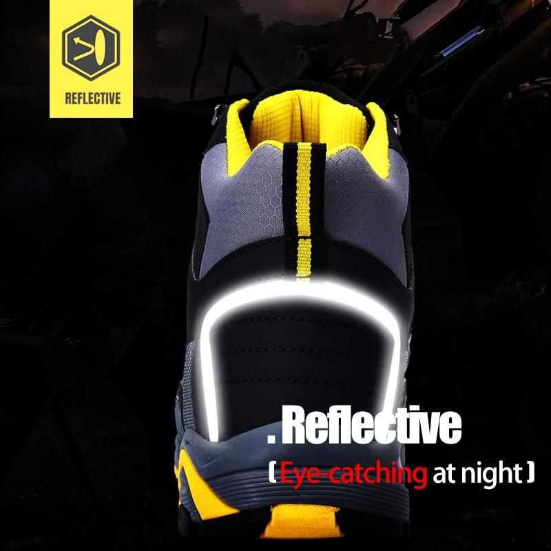 LARNMERN hommes acier orteil travail chaussures de sécurité léger respirant Anti-fracassant Anti-crevaison Anti-statique bottes de protection - 5