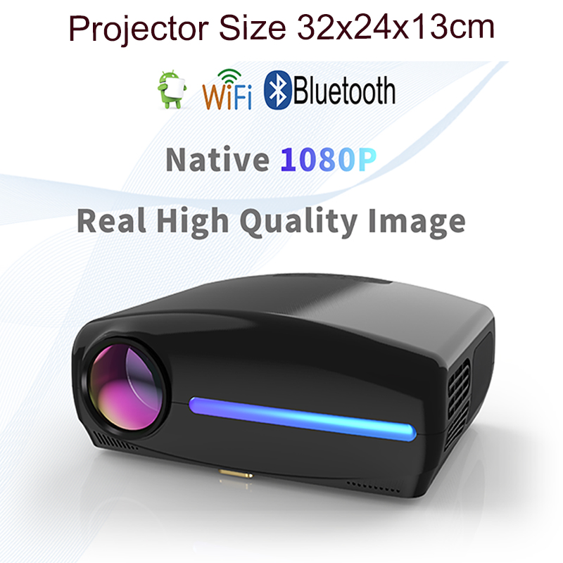 Image 3 - Smartldea 1080P 4K Full HD Projector,Android 9.0 Optional,1920x1080P Resolution 6500lumen,LED Proyector Home Theater,3D Beamer-in LCD Projectors from Consumer Electronics
