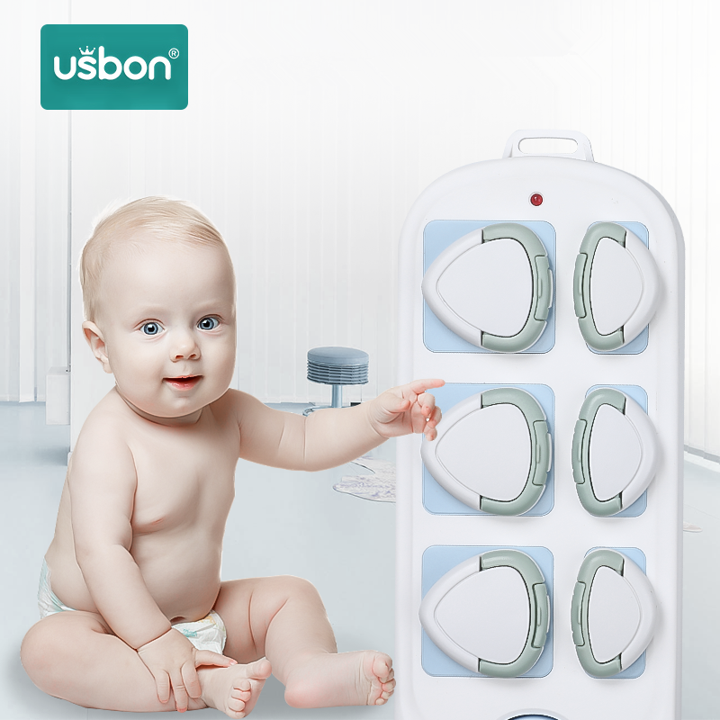 Usbon 24pcs EU Power Socket Electrical Outlet Baby Safety Guard Protection Anti Electric Shock Plugs Protector Cover