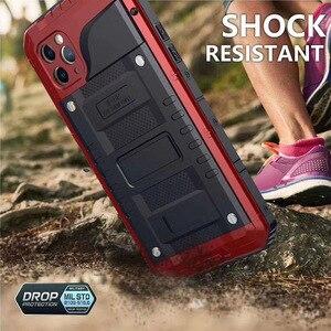 Image 5 - Funda protectora de Metal resistente para Iphone, carcasa resistente al agua Ip68, a prueba de golpes, para Iphone 11 Pro X Xs Max Xr 6 6S 7 8 Plus Se 360, 2020
