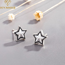 XIYANIKE 925 Sterling Silver 2019 Hot Sale Five-pointed Star Stud Earrings Korean Style Charm Geometric Small Ear Hoops Jewelry(China)