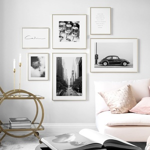 Car Street Typewriter Hill Quotes Wall Art Canvas Painting Nordic Vintage Posters And Prints Wall Pictures For Living Room Decor