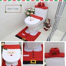Крышка для унитаза рождественские украшения туалетный колпак с изображением снеговика модное сиденье для унитаза Обложка домашний декор праздничный