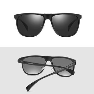 Image 4 - AOFLY 브랜드 2020 알루미늄 마그네슘 편광 선글라스 빈티지 스퀘어 메탈 프레임 남성 선글라스 운전 zonnebril heren
