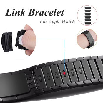 Metal link bracelet for apple watch 6 44mm 40mm iWatch band 42mm 38mm stainless steel strap apple watch series 6 SE 5 4 3 band replacement watch band for apple watch series 4 1 3 2 band bracelet strap for iwatch 42mm 38mm 40mm 44mm stainless metal band