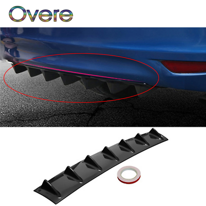 Overe 1PC Car Rear Bumper Modified Spoiler Shark Fin Styling For BMW E60 E36 E46 E90 E39 E30 F30 F10 F20 X5 E53 E70 E87 E34 image