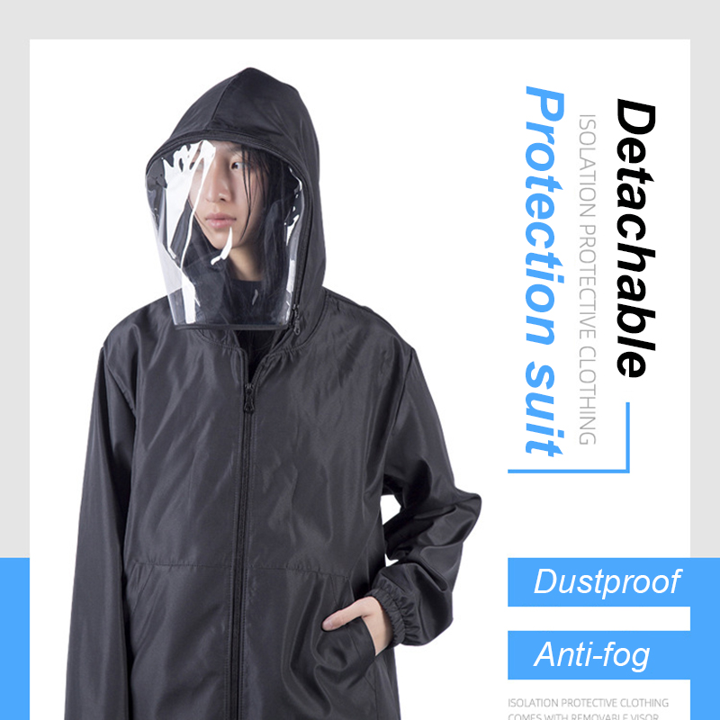 Anti Fog  Washable Protective Suit Isolated Clothing Jacket Hat With Veil Waterproof Removable Epidemic Prev Beekeeping Clothes