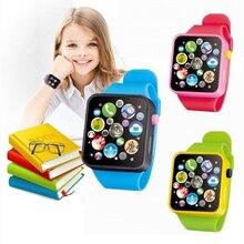 6 цвет моделирование часы малыш дети пластик образование игрушка дети сенсорный экран моделирование часы интеллектуальный цифровой часы