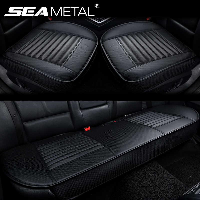 Pokrowce na siedzenia samochodowe PU skórzana poduszka do fotela samochodowego cztery pory roku pokrycie siedzenia samochodu uniwersalne podkładki maty ochraniacze akcesoria samochodowe