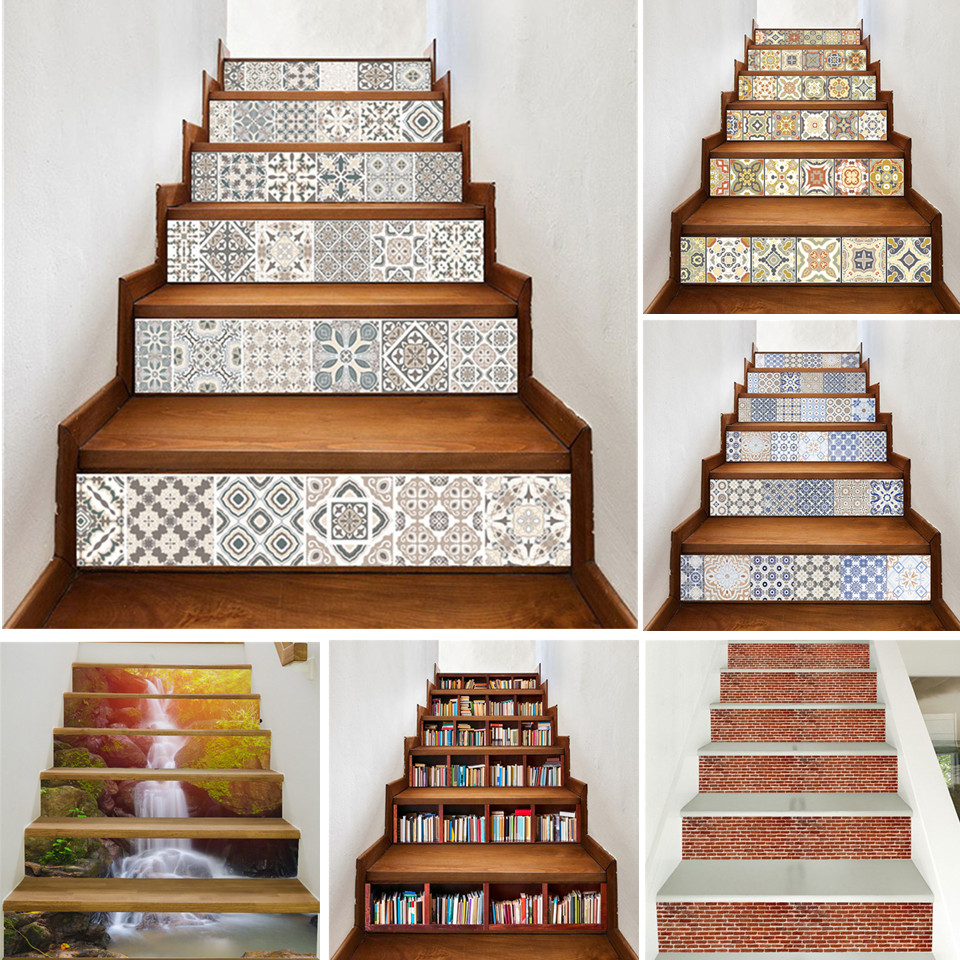 Arabic Style Stair Sticker Diy Vinyl Self Adhesive Stairway Waterproof Removable Wallpaper Staircase Floor Stickers Home Decor Best Offer 7ec3 Cicig