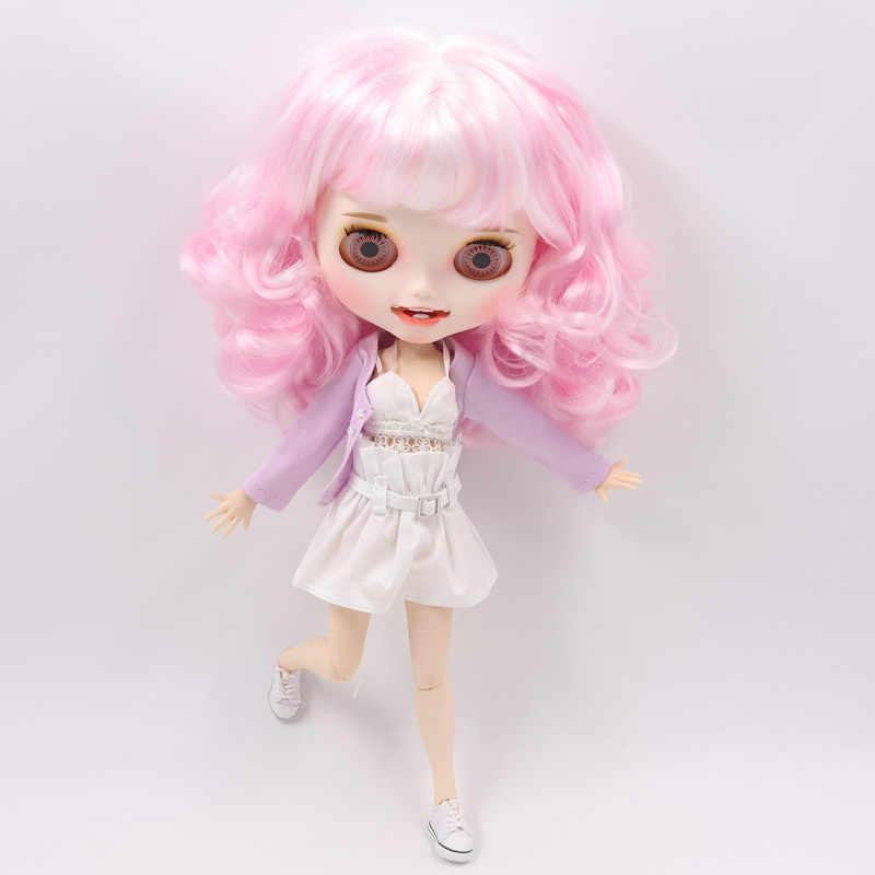 Roupas para 1/6 blyth boneca brinquedo terno sexy sutiã calças curtas roxo garb gelo licca corpo senhora roupas frete grátis