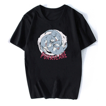 100% cotton Women's t-shirts Summer Loose Men/Women Casual Short Sleeve mujer camisetas Cat Print Anime T-shirt Tops Tee Shirt