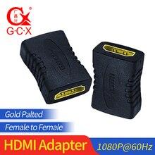 GCX Бесплатная доставка HDMI адаптер конвертер Женский 1080P Высокое разрешение HDMI кабель удлинитель соединитель