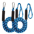 2 Packs Boat Bungee Dock Lines Bungee Cords Docking Rope Stretches 4-5.5ft Mooring Rope Foam Float Fishing Boat Accessories