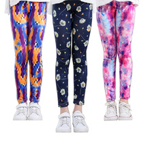 VEENIBEAR Summer Girl Pants Flower Print Girl Leggings Children Kids Pants Baby Girl Clothes Trousers Age 4-11Y cheap Rayon Spandex Acetate CN(Origin) Straight Girls Flowers PATTERN panelled vintage Tie dye Ankle-length Fits true to size take your normal size