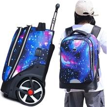 Backpacks-Bags Luggage Rolling-Bags Trolley Wheels Usb-Charging-Port School Girls