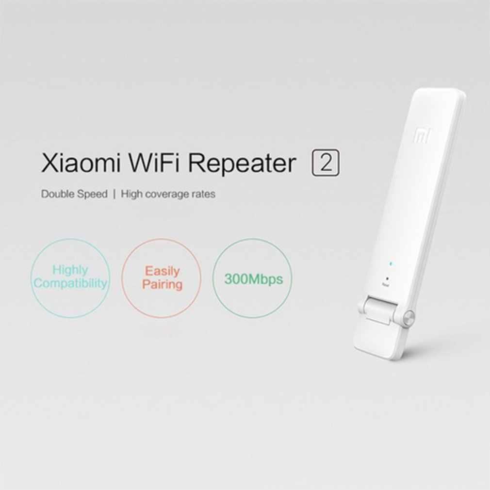 شياو mi mi واي فاي مضخم لاسلكي 2 جهاز التوجيه المتوسع المحمولة مريحة 300Mbps USB بالطاقة التوصيل والتشغيل