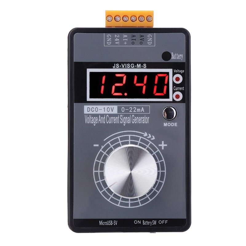 Высокоточный портативный 4-20мА 0-10 в генератор сигналов с регулируемым напряжением тока Аналоговый симулятор с светодиодный дисплеем