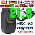 2021 HEX-V2 VAG COM 20,12 VAGCOM шестигранный V2 USB Интерфейс для VW AUDI Skoda сиденья неограниченное количество VINV8 + FT232RQ OBD2 сканер VAG шестигранный V2 VAG