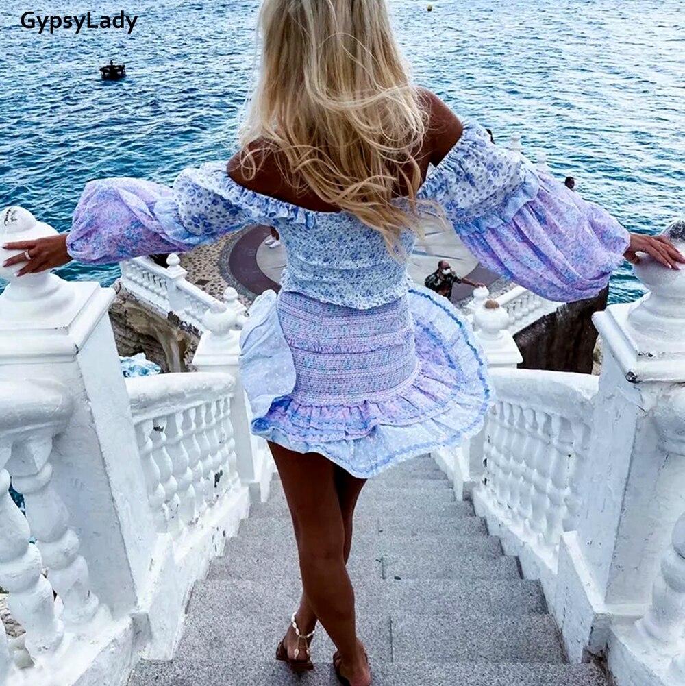 Купить женское винтажное мини платье gypsylady фиолетовое элегантное