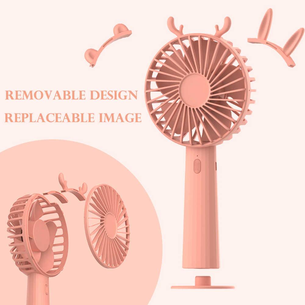 Mini ventilador USB, herramientas portátiles para exteriores, Enfriador de aire recargable, deporte, 3 engranajes, interruptor de refrigeración, ventiladores eléctricos de mano, viaje