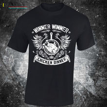 SKU29 WINNER CHICKEN DINNER t shirt yes gamer game ps4 xbox pubg  Free shipping Harajuku Tops Fashion