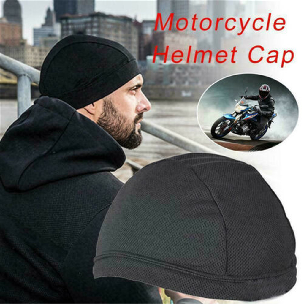 New Men Skull Cap Breathable Elastic Beanie Hat Sports Cycling Running Dome Cap