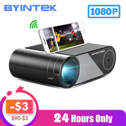 Byintek Sky K9 720P 1080P Led Draagbare Home Theater Hd Mini Projector (Optie Multi-Screen Voor iphone Ipad Smart Phone Tablet)