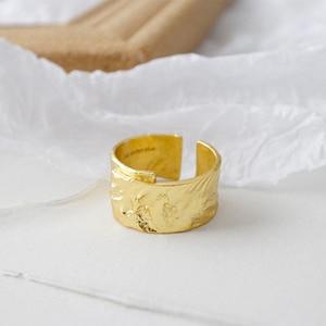 Image 3 - SSTEELไม่สม่ำเสมอROCK Textureแหวนผู้หญิงแหวนเงิน 925 Anillo Plata 925 Mujer Parure Bijoux Femme 2019 Bague