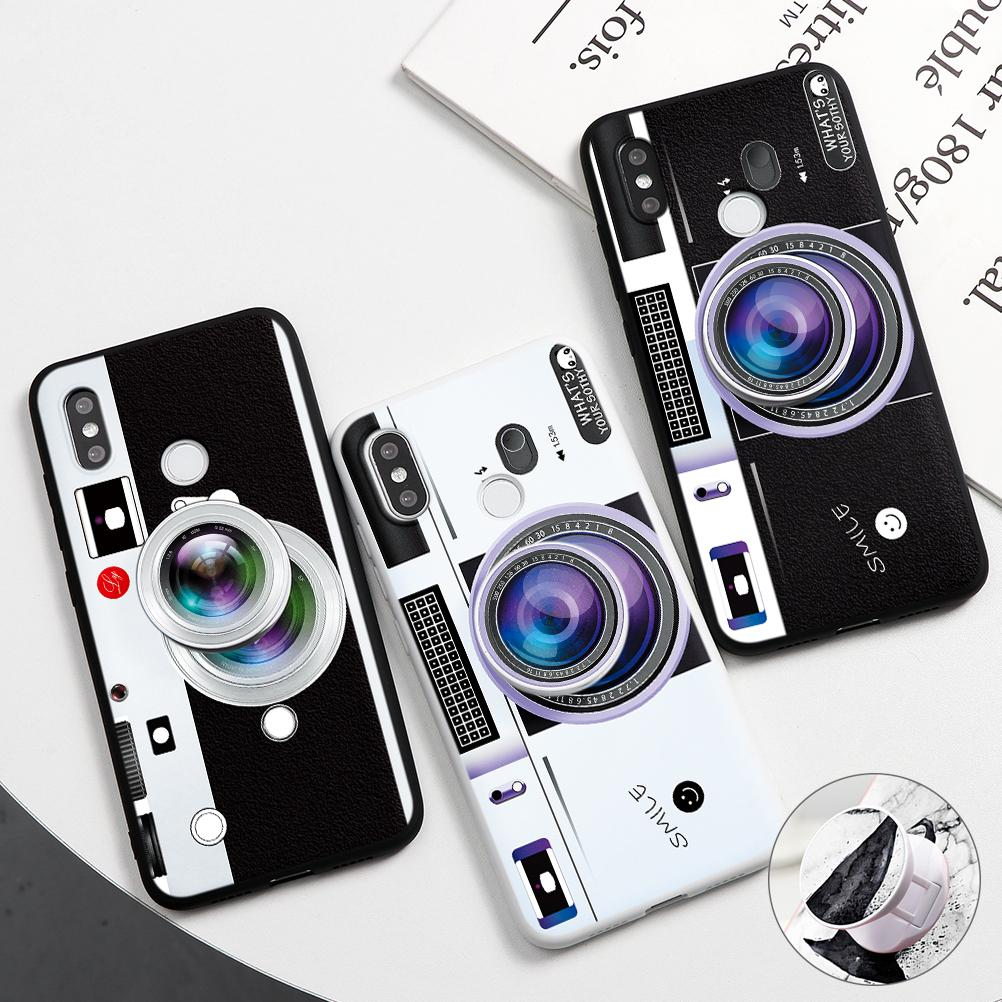 Stand Holder Coque Case For <font><b>Xiaomi</b></font> <font><b>Mi</b></font> <font><b>9</b></font> A3 8 Note 10 Lite <font><b>SE</b></font> Explorer Cover <font><b>Mi</b></font> Pocophone F1 9T Pro CC9 CC9e Camera Soft TPU Case image